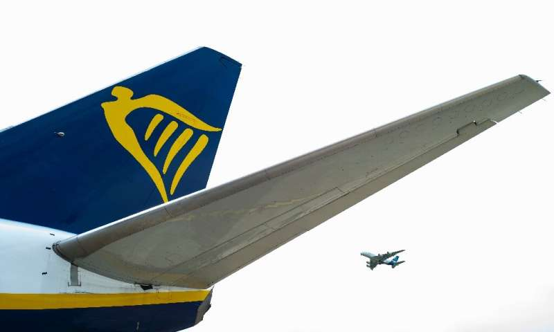 Ryanair's profits were hit by falling ticket prices, but passenger numbers were up