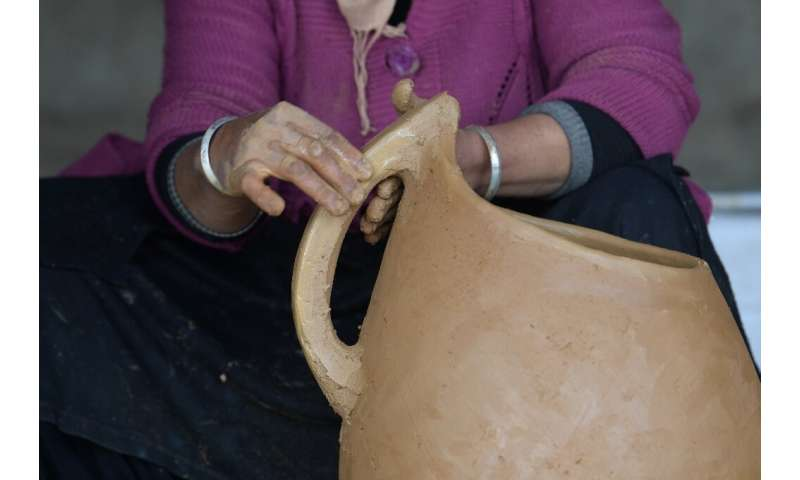 Sabiha Ayari (pictured) is committed to keeping the handicraft alive—she has already trained her sister-in-law and taught severa