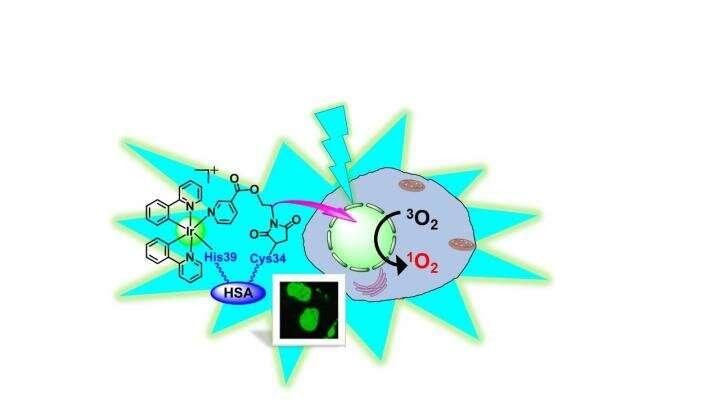 Simply shining light on dinosaur metal compound kills cancer cells