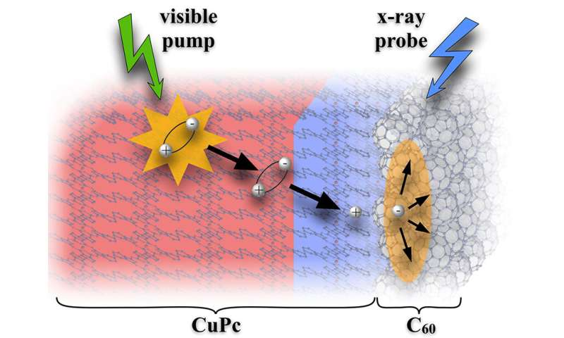 Slow charge generation plays big role in model material for solar cells