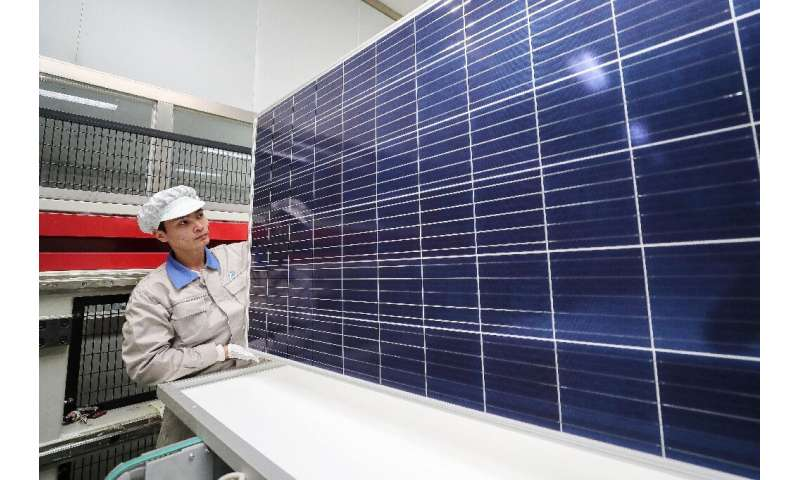 Solar panels are the focus of a heated dispute between China and the US