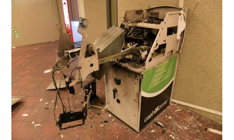 Some 369 ATMs in Germany were blown up by criminal gangs last year, a 38-percent increase over 2017