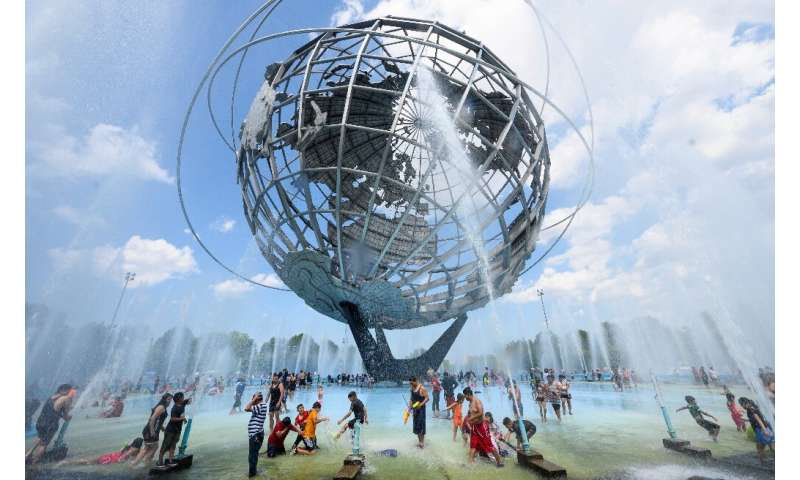 Sweltering heat in New York has caused the city's triathlon to be cancelled for the first time