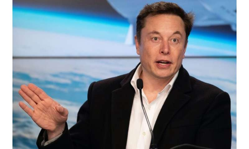 Tesla chief Elon Musk, pictured in March 2019, will take part in presentations of the new technology at the company's Silicon Va