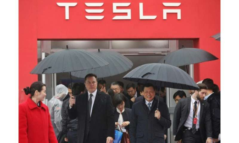 Tesla chief executive Elon Musk was in China in January for the groundbreaking of the factory near Shanghai