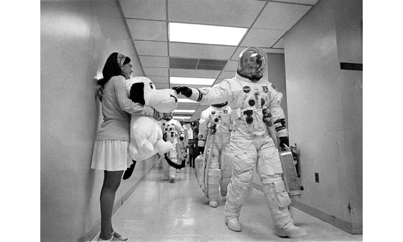 The Apollo 10 mission became synonymous with Snoopy and Charlie Brown in the minds of the public, because the three-man crew nam