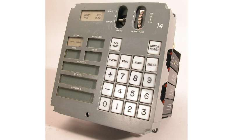 Astronauts had to enter two-digit codes for verbs and nouns, in order to execute commands such as firing thrusters or locking on a