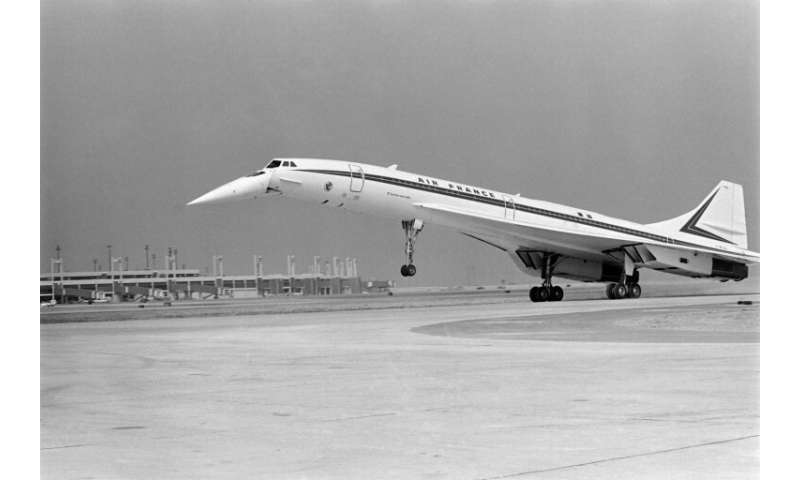 The Concorde, pictured here in 1973, had a pointed nose which drooped downwards during take-off for better pilot visibility