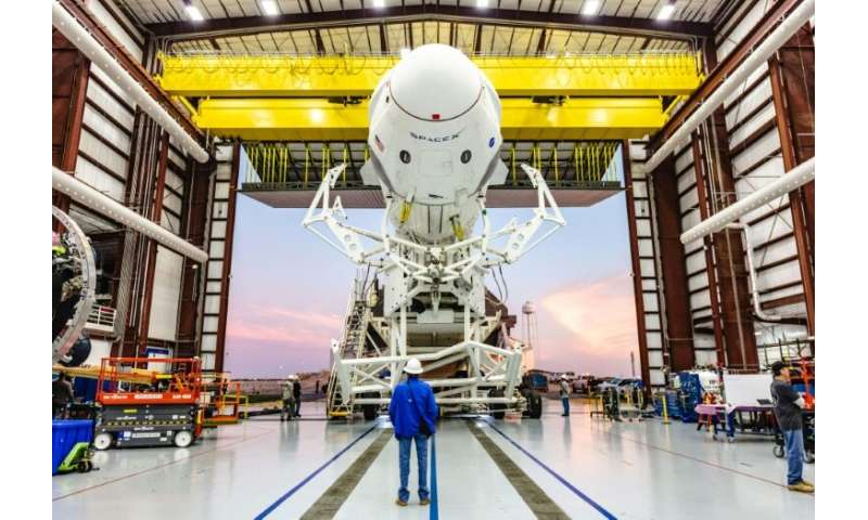 Incident on SpaceX pad could delay its first manned flight