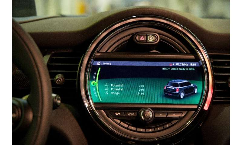 The dashboard of the new MINI electric car unveiled earlier this month at the BMW group plant in Cowley