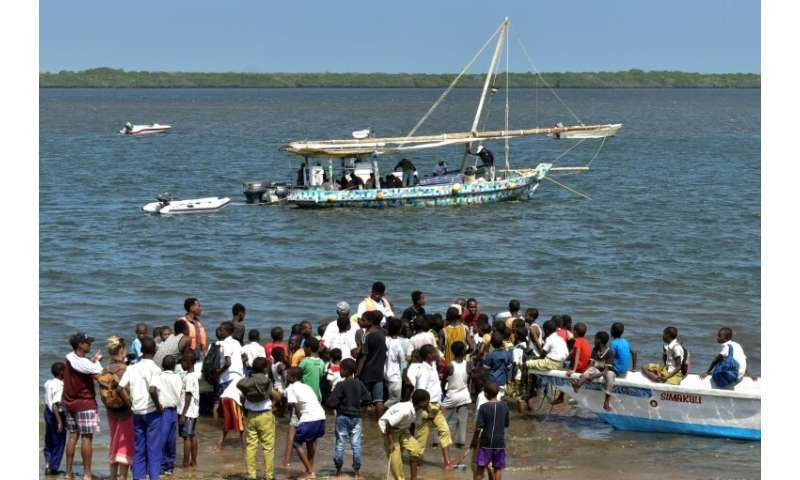 The dhow's  500-kilometre (310-mile) expedition began on Lamu island on Thursday and is set to finish in Zanzibar on February 6