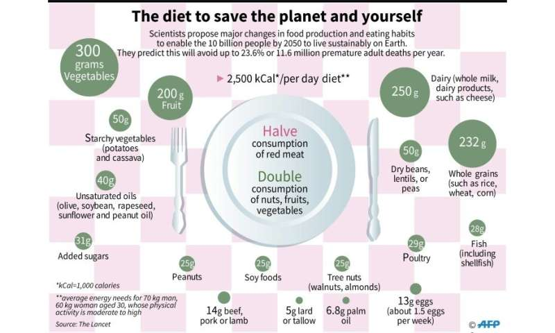 The diet to save the planet and yourself, according the Lancet medical journal