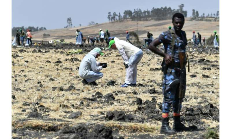 The Ethiopian Airlines plane plunged to the ground near Addis Ababa shortly after takeoff