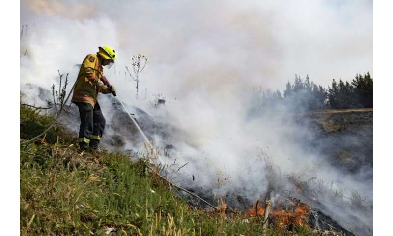 The fire erupted early last week amid scorching conditions