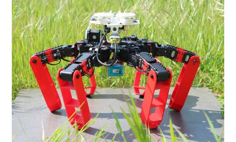 The first walking robot that moves without GPS