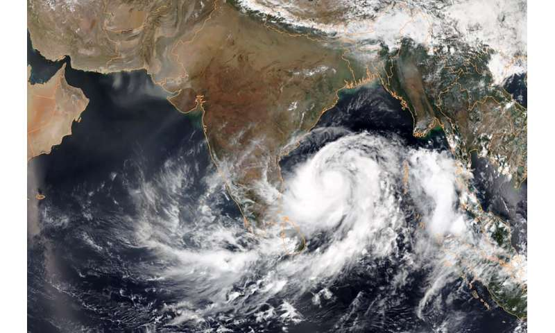 The Indian weather service said Extremely Severe Cyclonic Storm Fani is gathering near the Hindu holy town of Puri with gusts of