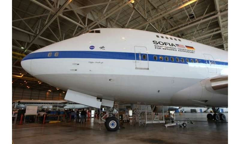 The NASA-funded Stratospheric Observatory for Infrared Astronomy (SOFIA), the largest airborne observatory in the world, was mea