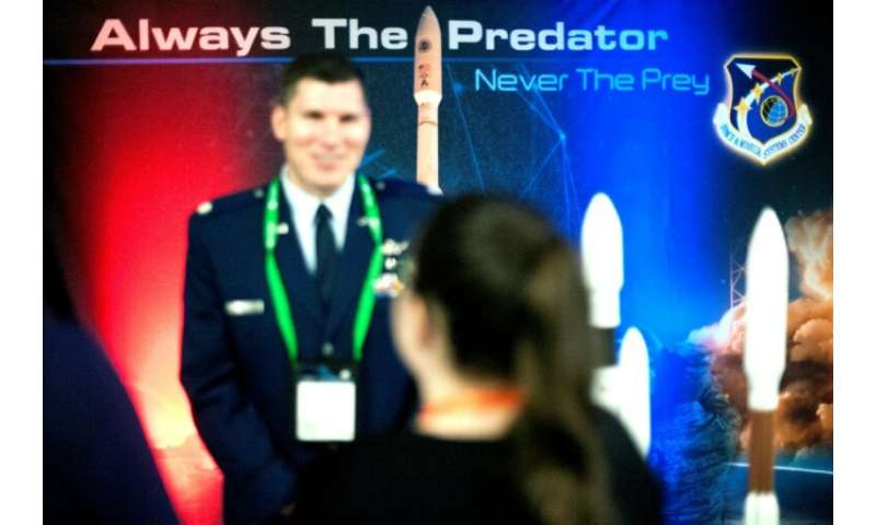 The number of military uniforms in evidence at the 35th Space Symposium in Colorado Springs, Colorado attests to the fact that s