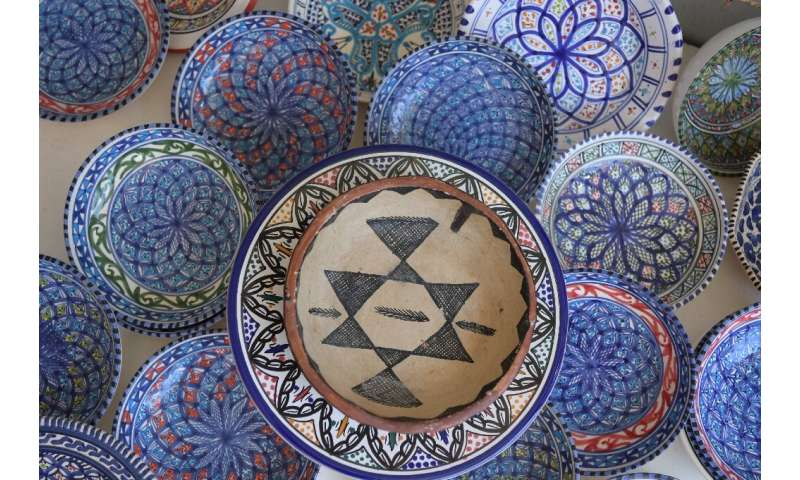 The pottery from Sejnane is made with red and white clay from local wadis and was included in 2018 on UNESCO's intangible cultur