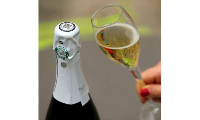 The QR code on the foil of the bottle helps champagne makers battle counterfeiters and provides a link to customers