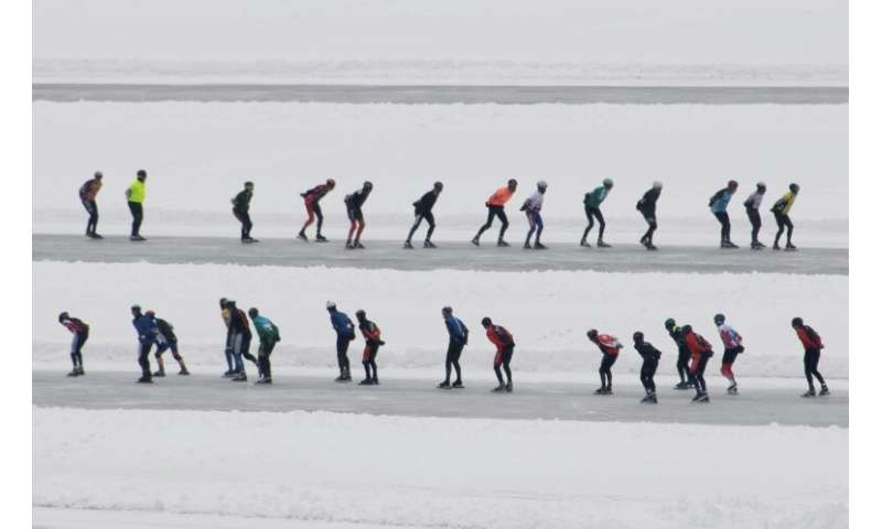 """The """"Alternative Elfstedentocht"""" has been held annually in Weissensee since 1989"""