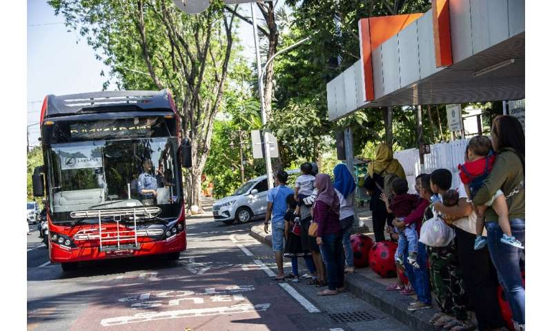 The Surabaya recycling scheme has been a hit in the city of 2.9 million, with nearly 16,000 passengers trading trash for free tr