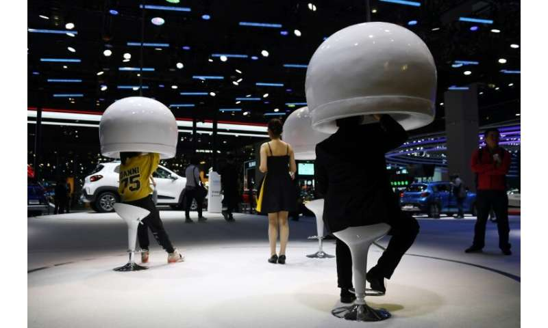 This year's Shanghai Auto Show is very focused on new technologies, with booming ride-hailing services and car-sharing