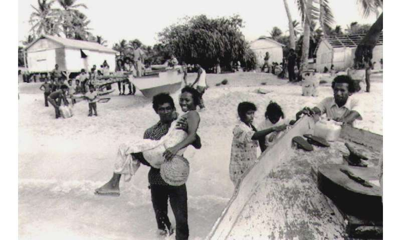 Thousands of Marshall Islanders, amid continued nuclear tests in the region the 1950s, fled or were forcibly evacuated