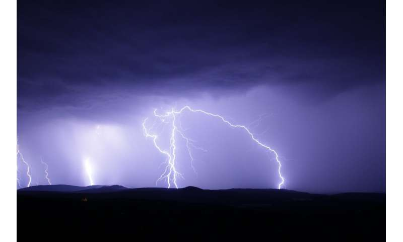 Researchers use muon detector to measure electric potential in a thunderstorm