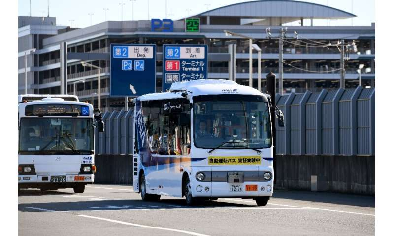 Tokyo's Haneda airport held a 10-day experiment in January with a self-driving prototype minibus