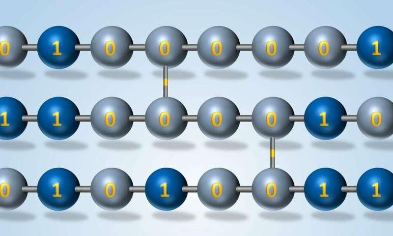 Toward novel computing and fraud detection technologies with on-demand polymers