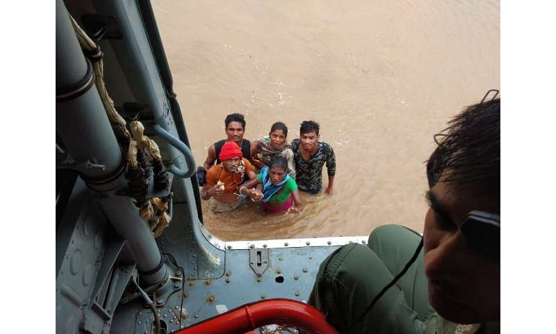 Troops from India's army, navy and air force have been roped in for ongoing flood relief operations