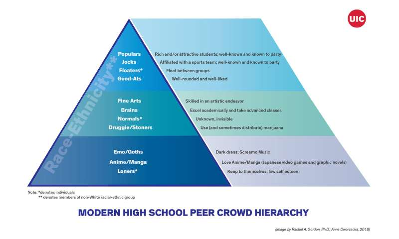 UIC study details how today's high school cliques compare to yesterday's