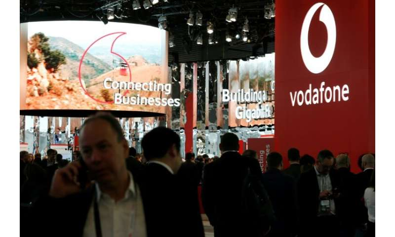 Vodafone displayed its pet tracker at the Mobile World Congress trade fair in Barcelona