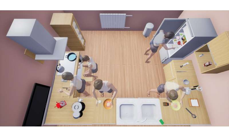 **VRKitchen: an interactive virtual environment to train and test AI agents