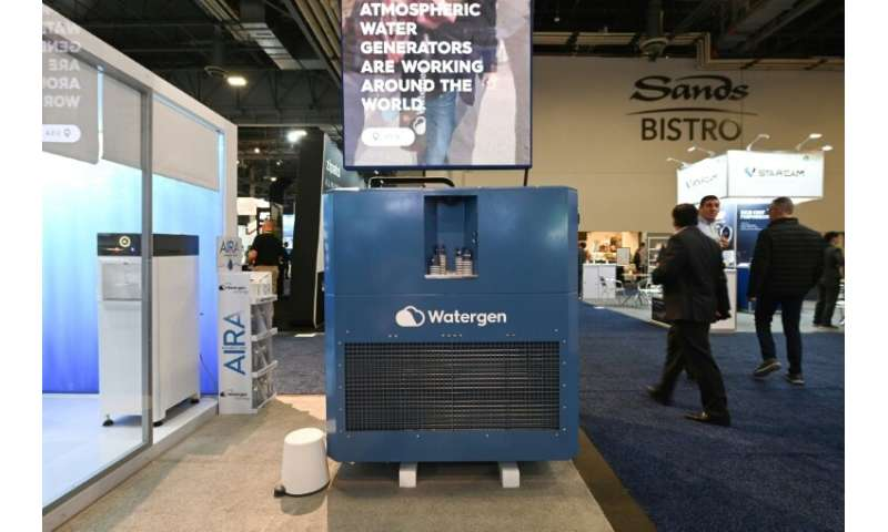 Watergen's GEN-350 machine, which extracts potable water from the air, is seen at the Consumer Electronics Show in Las Vegas