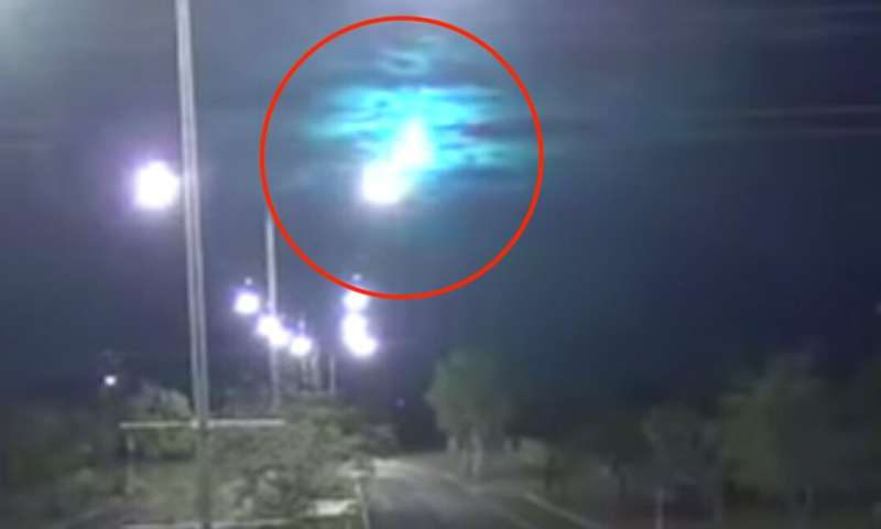 How did the fireballs light up the sky over Australia?