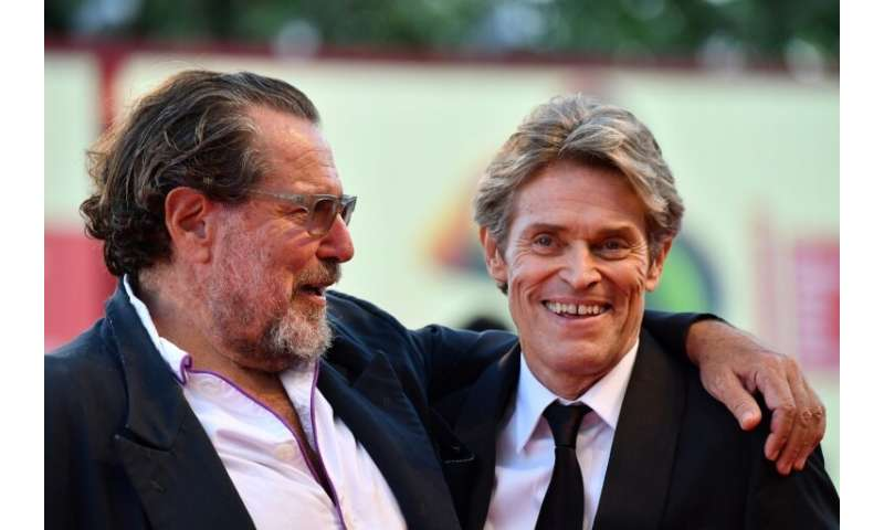 "Willem Dafoe, right, stars as Van Gogh in director Julian Schnabel's ""At Eternity's Gate"", which depicts the painter's"