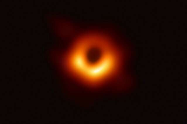 "Working together as a ""virtual telescope,"" observatories around the world produce first direct images of a black hole"