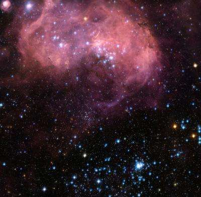 Hubble captures bubbles and baby stars