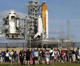 Space shuttle Discovery fuels for pre-dawn launch (AP)