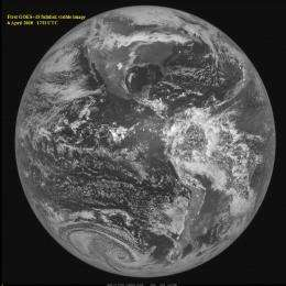 """GOES-15 Opens Its """"Eyes"""" and Sees First Image of Earth"""