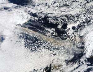 NASA'S Terra Satellite Captures Ash Plume of Icelandic Volcano