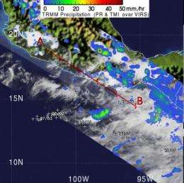 TRMM satellite sees Darby's remnants still kicking up isolated showers
