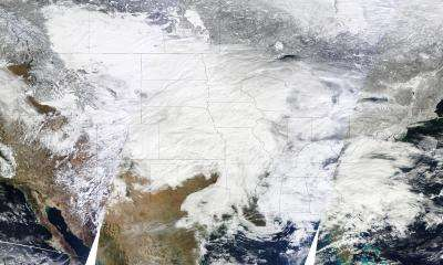 NASA satellites capture data on monster winter storm affecting 30 states