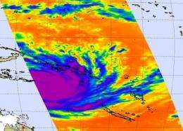 NASA satellites reveal heavy rains in dangerous Cyclone Yasi on its Australian approach