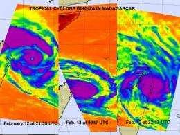 NASA satellites see Cyclone Bingiza move across northern Madagascar