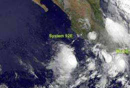 Tropical Depression 2-E forms in the Eastern Pacific, number 3 may follow