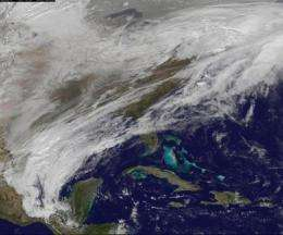 GOES-13 Satellite sees Groundhog's Day on ice