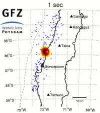 Earthquake in Chile -- a complicated fracture